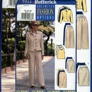 Vintage Butterick Pantsuit Jacket Sewing Pattern